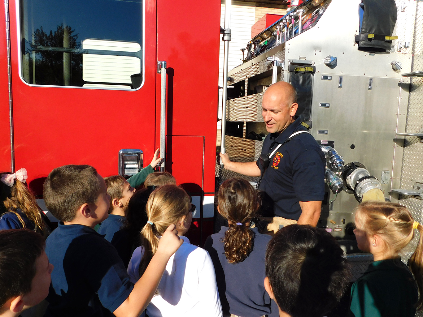Fire Fighters Visit WCA