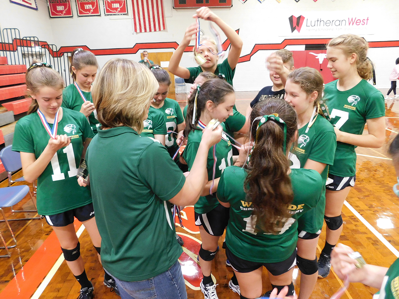 7th/8th Grade Volleyball League Victory
