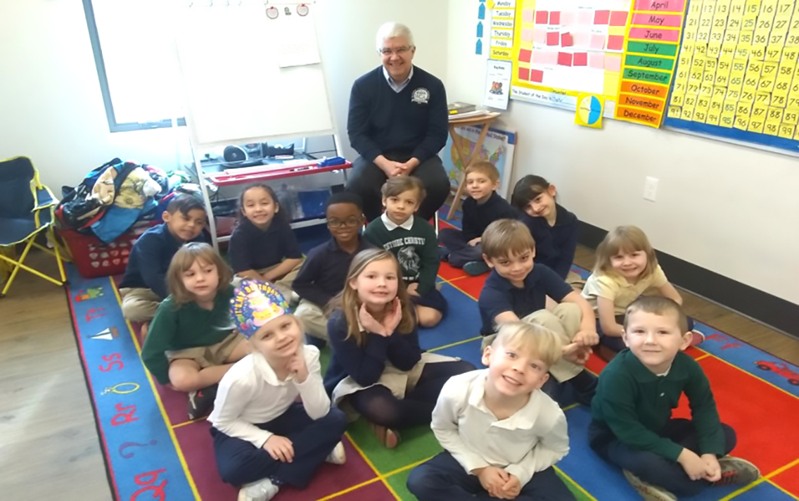 K-Rorick Class with Mr. Whiteman