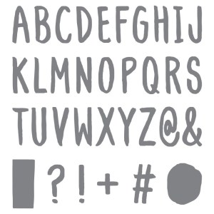 Layered Letters Alphabet