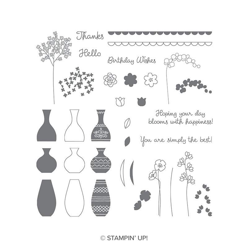 Varied Vases Stamp Set