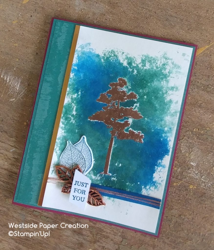 A all occasions card featuring Faux Batik for The Creative Way
