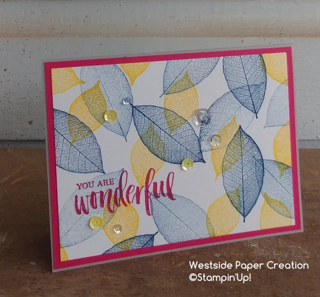 A card featuring the leaves from the Rooted In Nature Stamp Set