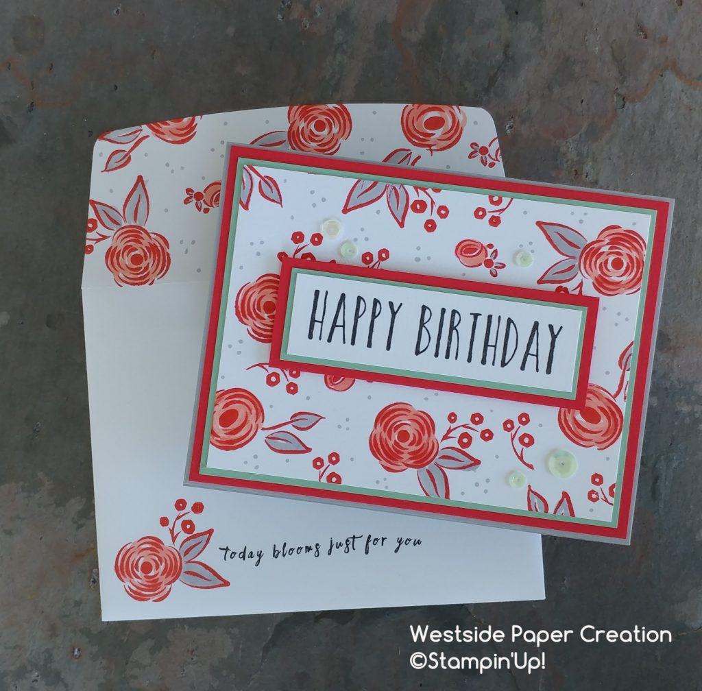 Birthday blooms with Stampin' Blends