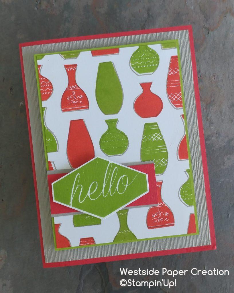 A Modern Hello Card