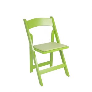 folding chair green white rocking outdoor westside party and tent rental servware stemware silverware lime padded view details