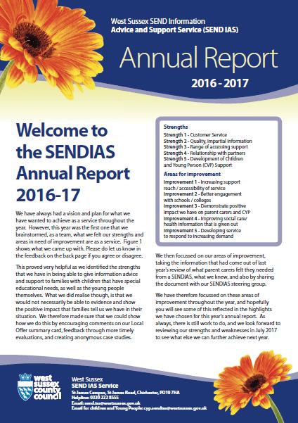 Full picture of SENDIAS Annual Report 2016-17