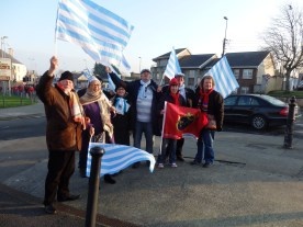 Racing 92 supporters arrive to greet the teams