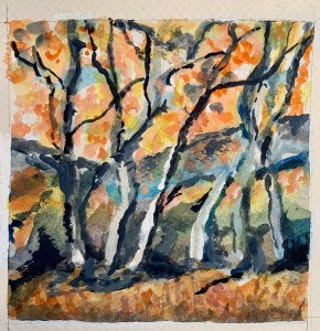 Trees watercolor