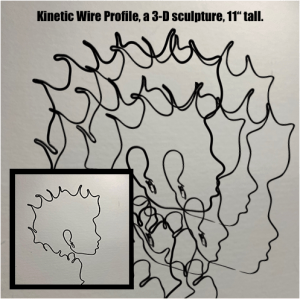 "#06 | Kinetic Wire Profile, 11"" tall"