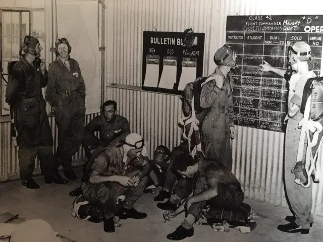 Operations Room, No. 6 British Flying Training School, 1943