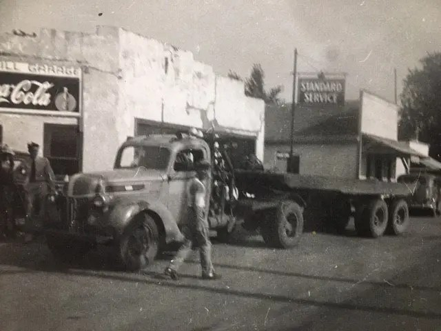Lorry Driver in Ponca City, Oklahoma, 1943