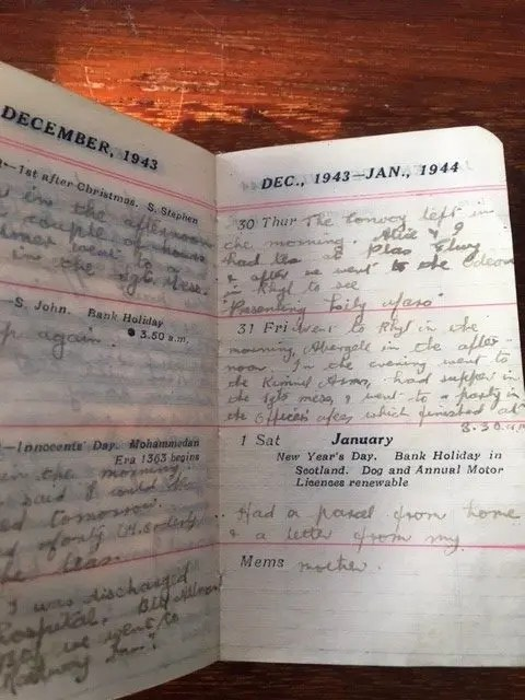 10. Enid Lewis. 30th December 1943. The Convoy left in the morning. Alice and I had tea in Plas Elwy_