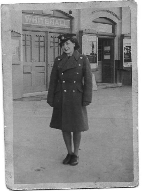 Adelaide Martin (née Jarman) in her Women's Auxiliary Air Force uniform during World War Two