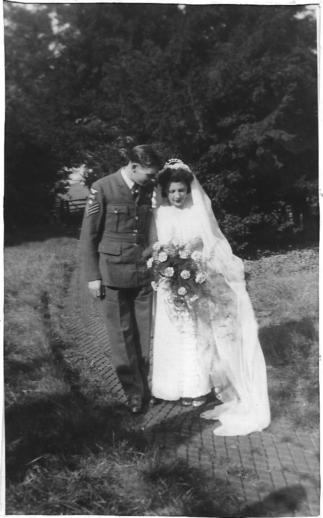 John and Adelaide Martin on their wedding day. September 29th, 1945.