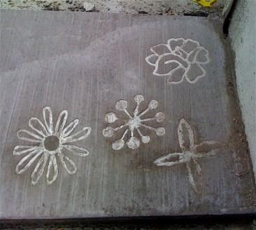 """Bloordale """"Walk Here"""" flower project"""