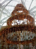 Brookfield Place's huge ornate hanging wreath-tree