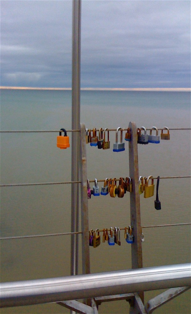 Love locks on Humber Bay Arch Bridge: Pollution? Mass hysteria? A trend? A passing fad? Or... kind of interesting?