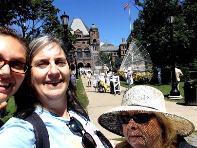 parade start grounds at Queen's Park - behind us