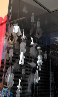 nifty optician's window decor on Queen West