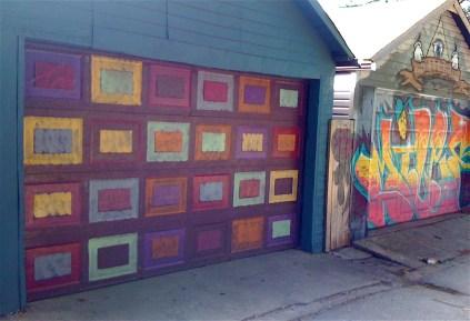 two of my favourite garage doors, in Peperonata Lane