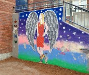 Rest in Peace Abby mural at Regal Road School