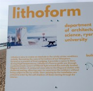 Winter Stations: Lithoform - artist's representation of how it was supposed to look, before the wind got it.