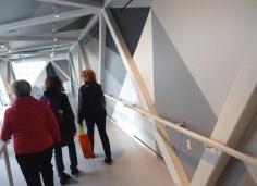 Sharon, Barbara & Jan in Torque (another interesting PATH bridge, designed by Jennifer Marman, Daniel Borins, & James Khamsi). (And, note Longo's shopping bag!)