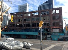 Beyond the soldiers, the old Loblaws warehouse is still coming down. They plan to rebuild it. Could be interesting.