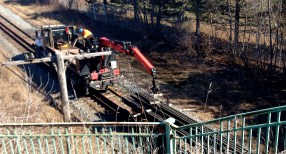 Watching track deconstruction near RailPath