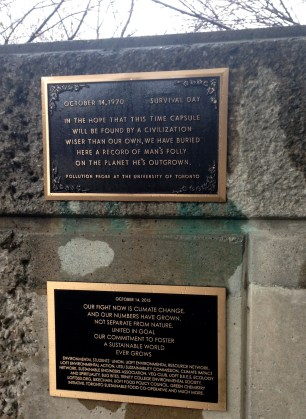 Interesting: also on the Robarts side lawn, a Time Capsule!