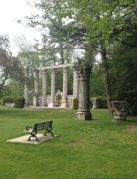 """The """"Greek Theatre"""" - made of reclaimed pillars and doorways from the old Bank of Toronto Building."""