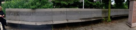 ... and this beautiful peace bench, with a Petrarch quotation.