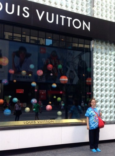 Mary is in outer space... at Louis Vuitton...