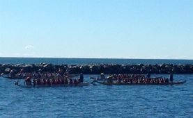 Bad attempt at a digital zoom on quickly moving dragonboats!