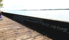 Skylar encountered a little poetry... or a protest... along the boardwalk. Couldn't find an attribution to this anywhere online.
