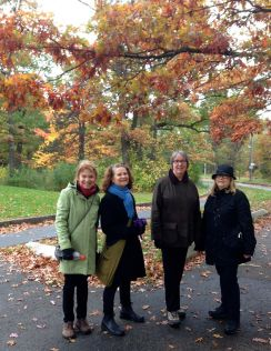 This is lovely! Julie, Skylar, Dana, and Elizabeth head into colourful High Park. All shades of green, yellow and red.