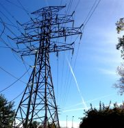 Hydro lines and vapour trails.