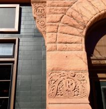 Beautiful carved bits on the Dominion Hotel/Tavern.