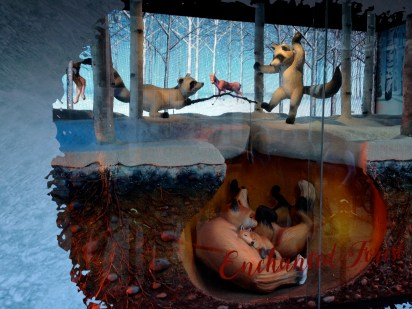 This year's Hudson's Bay Christmas windows are wonderful - sculpture and background film/animation of animals at play, in winter. Hibernating foxes and frolicking raccoons... and see the moose??