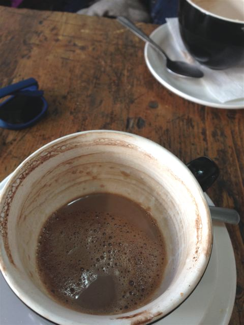 When we discuss hot chocolate on a cold day... it happens! A little conversation at Moon Bean is a great winter post-walk activity!