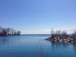 at Mimico Harbour - the little islets and breakwaters