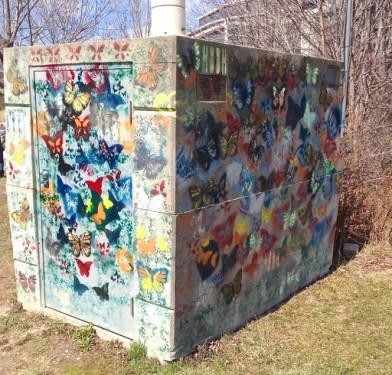 Butterfly graffiti in Humber Bay Butterfly Habitat