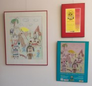 Native Child & Family Services bldg - orig drawing and its resulting poster