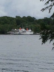 Muskoka steamships at the dock, from Helena's walk in Gravenhurst