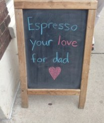 Back out on St. Clair, heading for TTC. And, well, it was Father's Day! We should have gone in for an iced doppio macchiato!