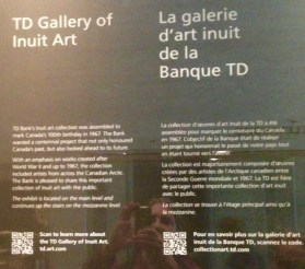 TD Bank's Gallery of Inuit Art - a bit about this Centennial project!