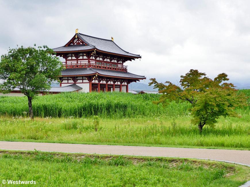 Imperial Palace Suzaku Gate  in Nara in 2019