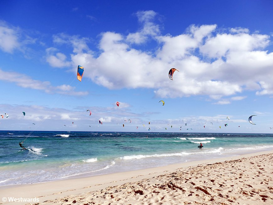 Kitesurfers on Fuerteventura