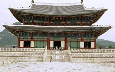 Front view of Gyeongbokgung Palace